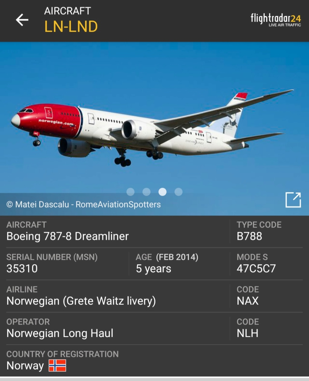 Motore di un 787 Norwegian in avaria perde frammenti che cadono su Fiumicino Screen30