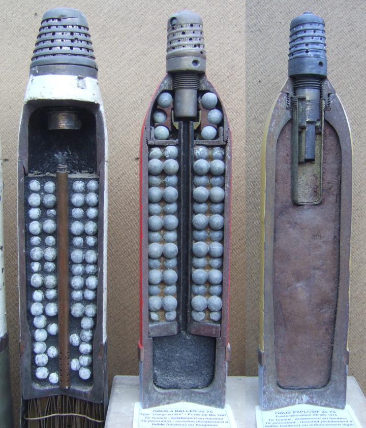 Obus pour canon Schneider modèle 22-24 Obus-710