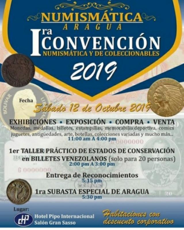 I Convención Numismática y de Coleccionables - Maracay - VE. Whatsa10
