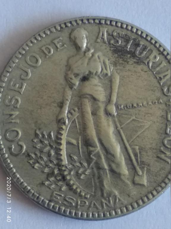 2 pesetas consejo de Asturias y Leon 110