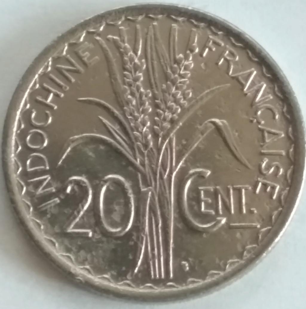 20 Cents 1941. Indochina Francesa. 1941_210