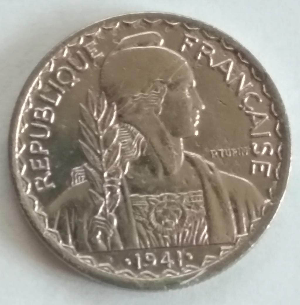 20 Cents 1941. Indochina Francesa. 1941_211