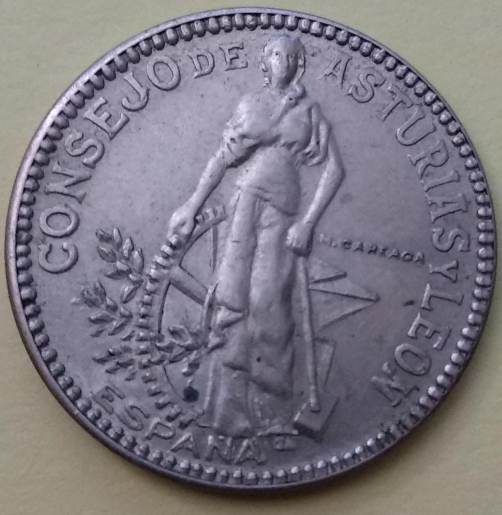 2 pesetas consejo de Asturias y Leon 210