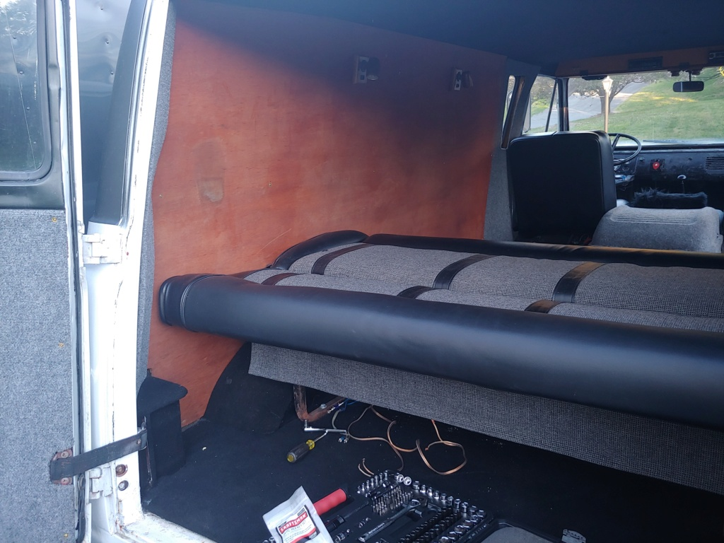 Rear folding bench seat out of '63 Econoline Bench_13