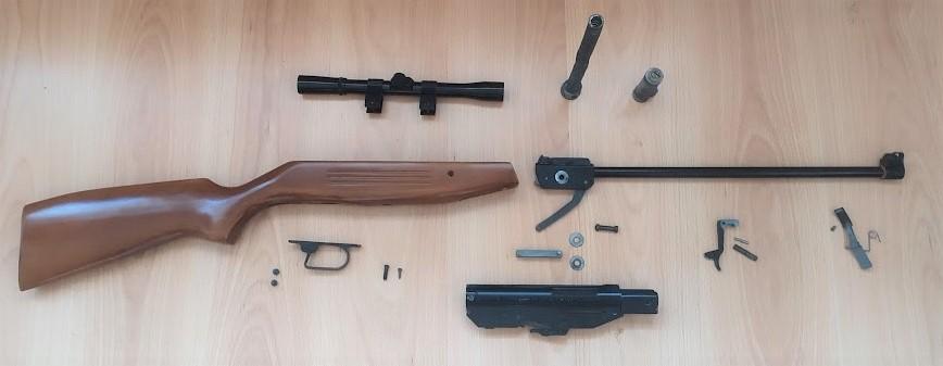 Restauration Carabine Manu-Arm Cal 4.5 Made In France - Années 90 Vue_fu10