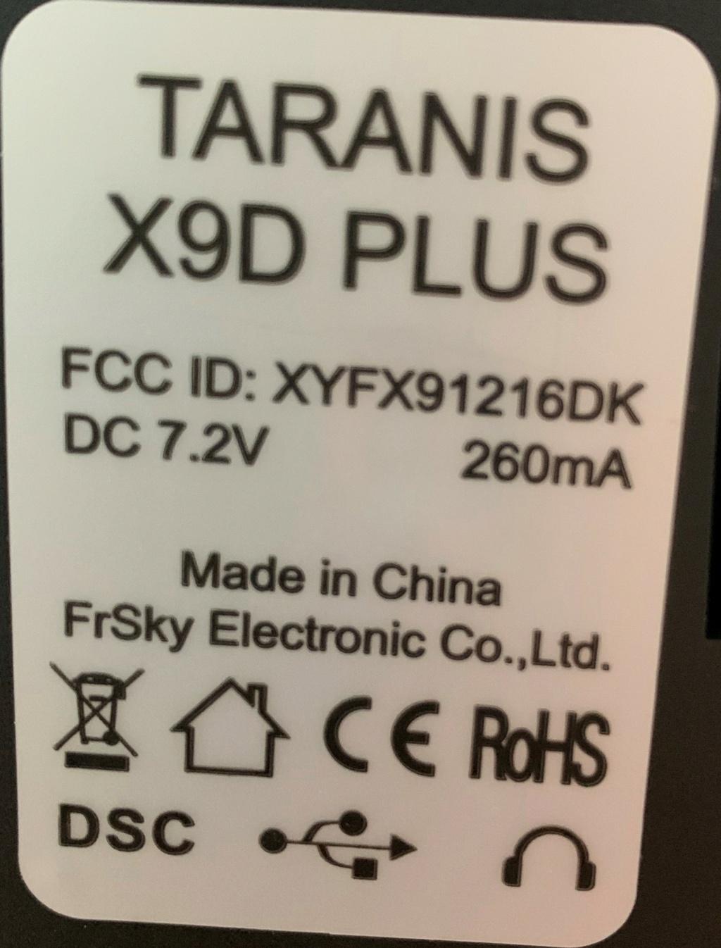 PB CARTE SD TARANIS XD9 PLUS Img_2115