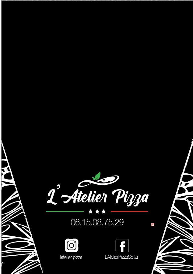 Cartes, Menus et Adhésifs de L'Atelier Pizza Page_410