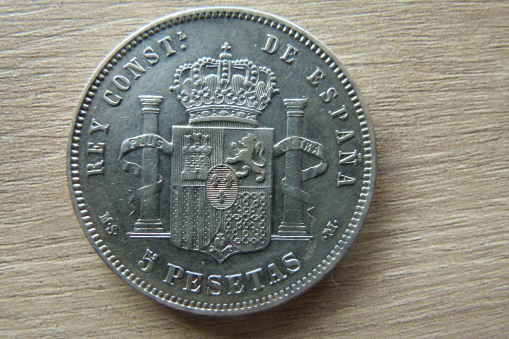 5 pesetas ALFONSO XII 1884 *18*84 M.S P1060314