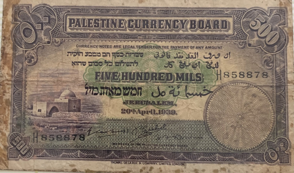 Que opináis de este billete? Palestina 1939 2bb76d10