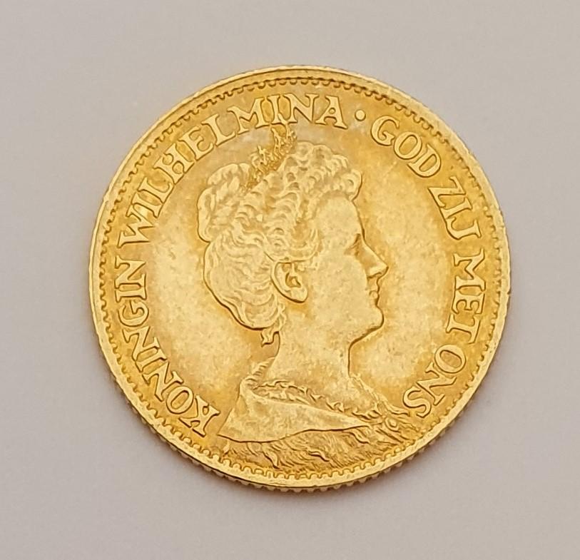 Oro. 10 Gulden 1911. Países Bajos. Opinión. 20210618