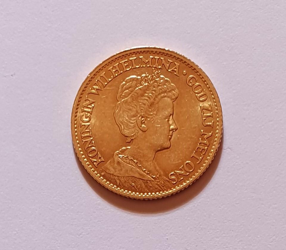 Oro. 10 Gulden 1911. Países Bajos. Opinión. 20210619