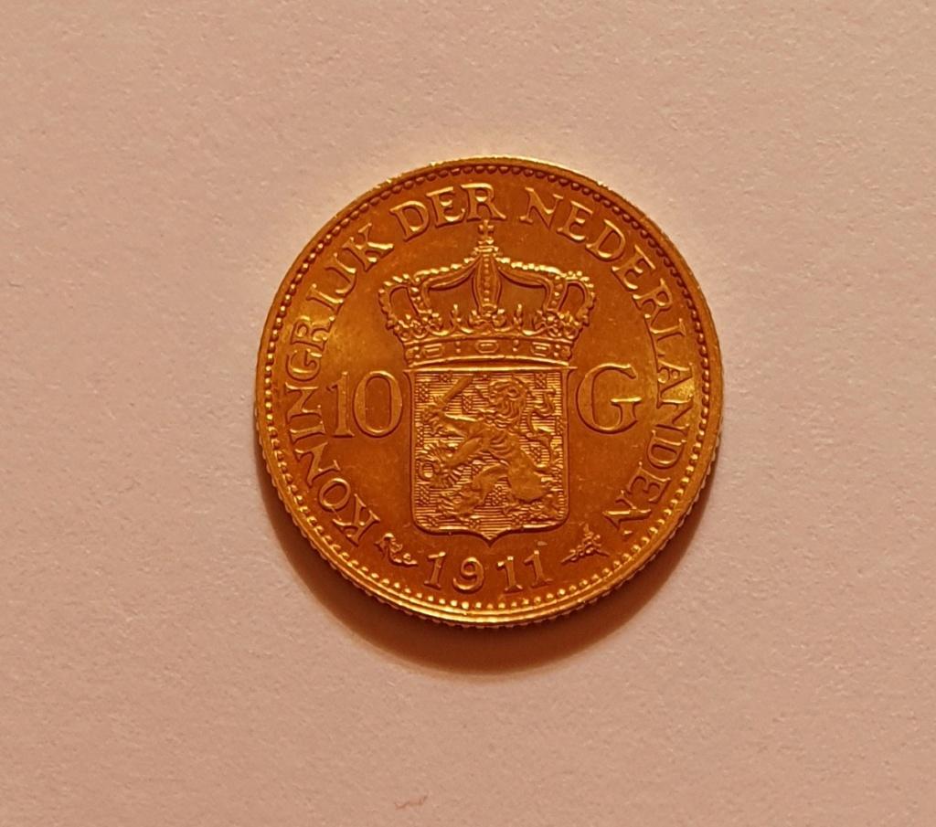 Oro. 10 Gulden 1911. Países Bajos. Opinión. 20210620