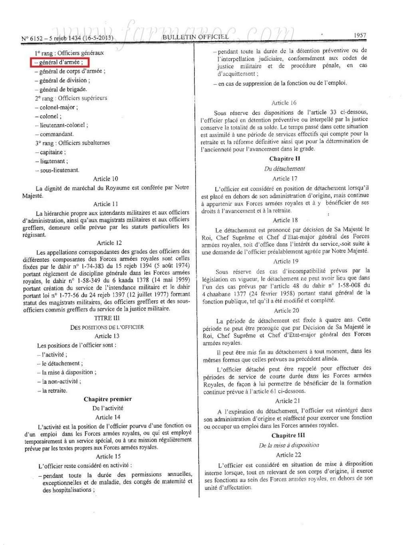 nouveau Statut particulier des officiers des FAR Statut10