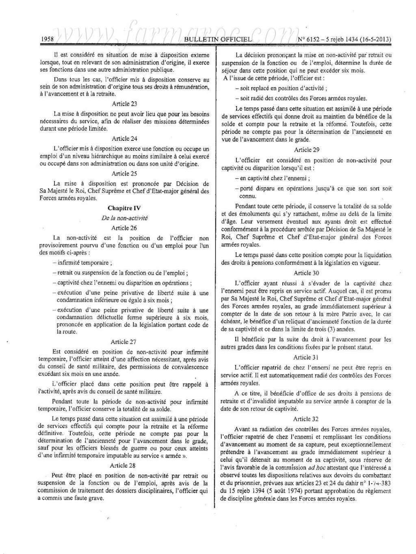 nouveau Statut particulier des officiers des FAR Statut12