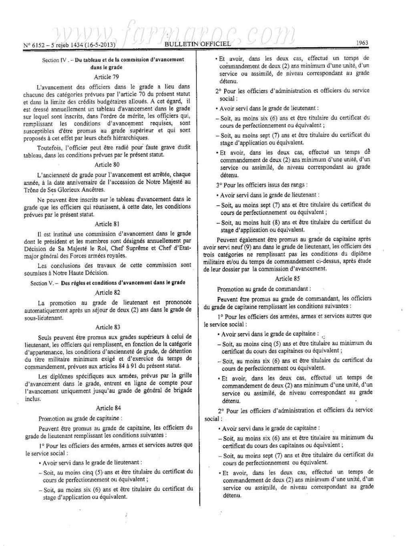 nouveau Statut particulier des officiers des FAR Statut17
