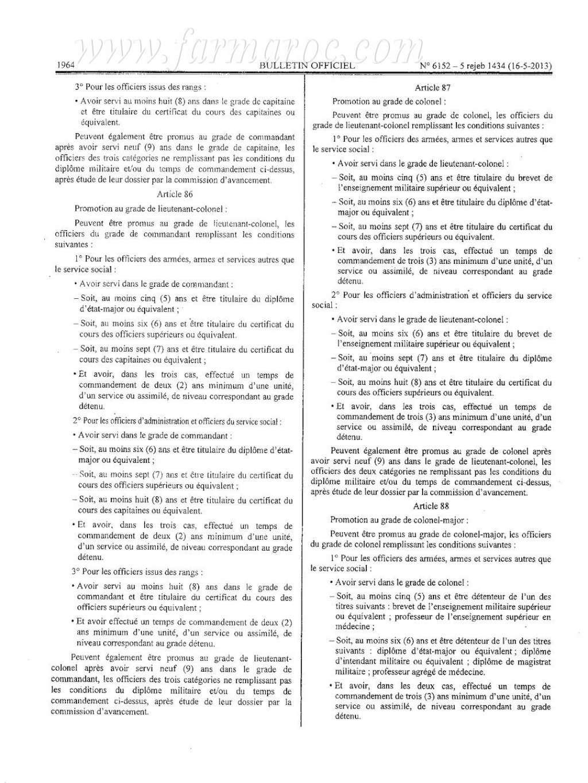 nouveau Statut particulier des officiers des FAR Statut18