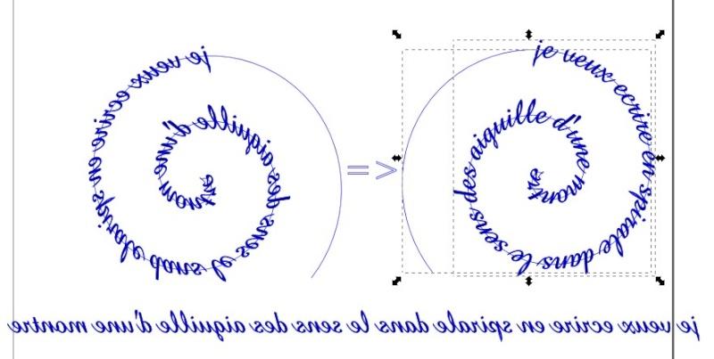 Inkscape + écriture spirale Spiral10