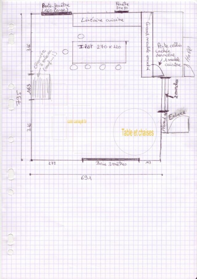 Besoin d'un lifting de 30 ans avant début août... le défi!!! 1) Le séjour-cuisine Scan510