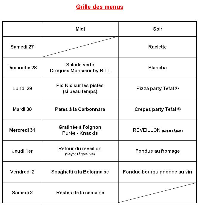 [REVEILLON JOUR DE L'AN 2009 - SEMAINE au SKI avec T&T] - Page 10 Menu10