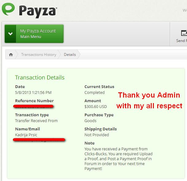 Narasimha - my 3rd payment Clicks10