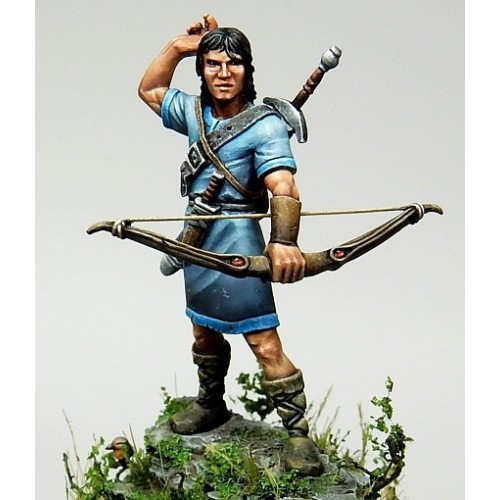 Figurine seigneur archer + marqueur bagage (buffle) / saga âges sombres ou saga âge de la magie Asgeir10