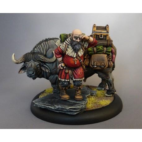 Figurine seigneur archer + marqueur bagage (buffle) / saga âges sombres ou saga âge de la magie Simeon10
