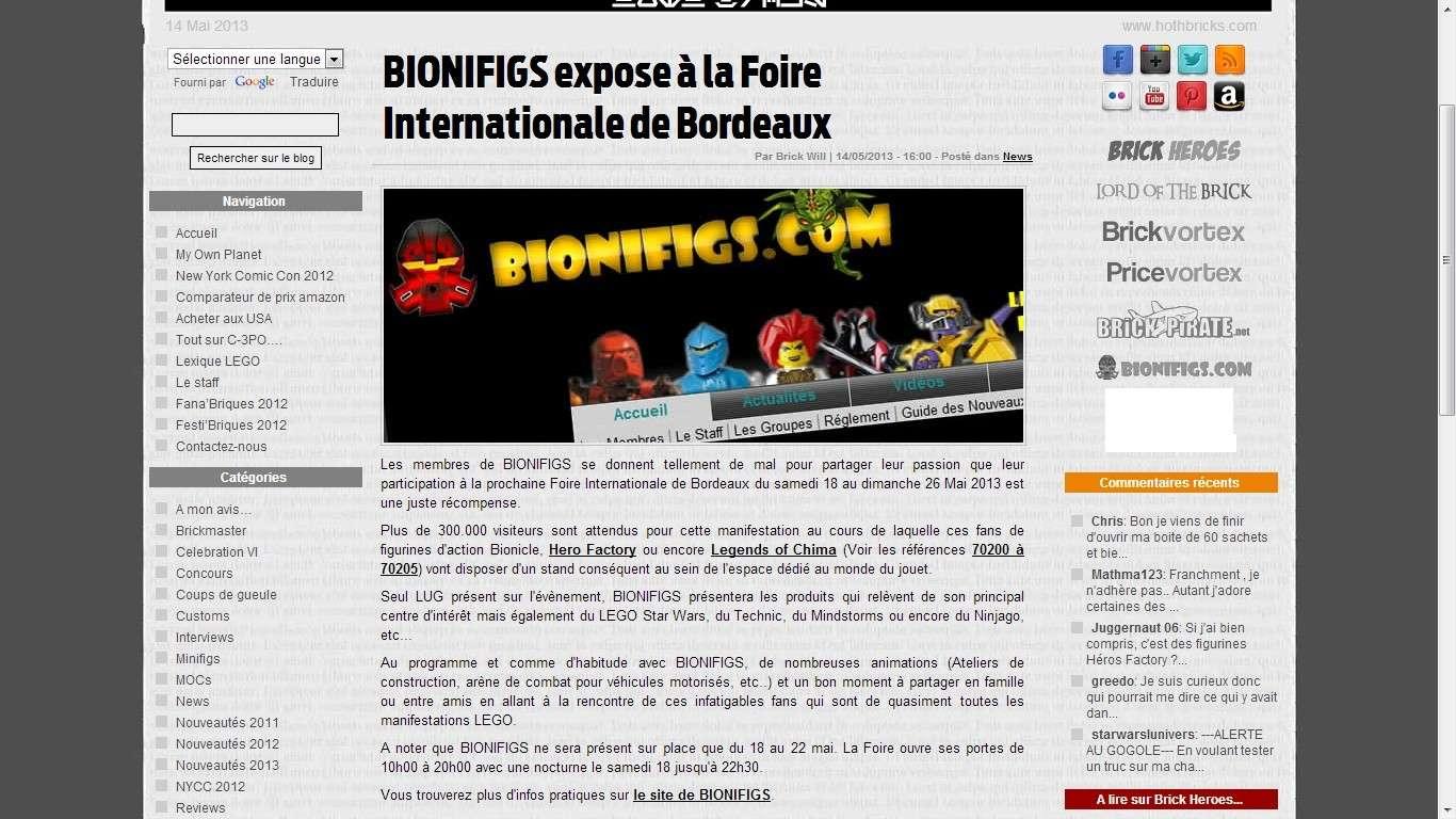 [Expo] BIONIFIGS à la Foire Internationale de Bordeaux du 18 au 22 mai Captur10
