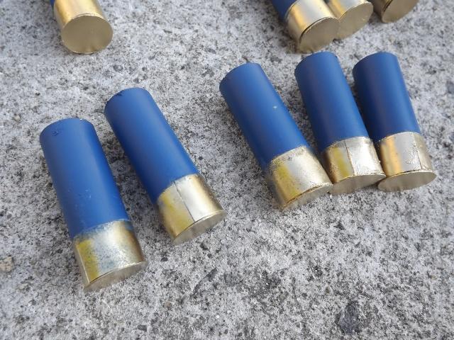 """Cartouches de pompe factices """"12 GA Blue"""" Dscf3846"""