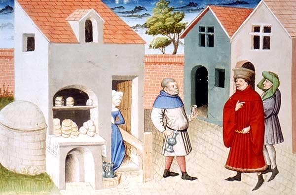 représentation de boulanger / pain / four / vendeurs de pains 05610