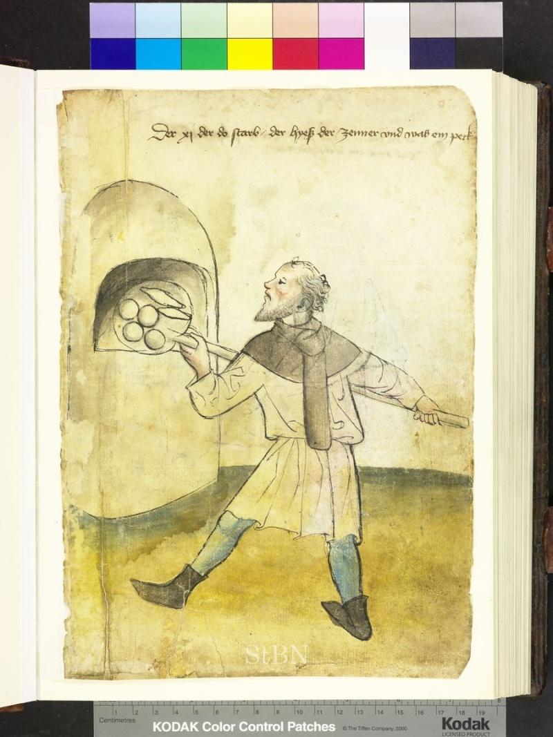 représentation de boulanger / pain / four / vendeurs de pains Folio_10