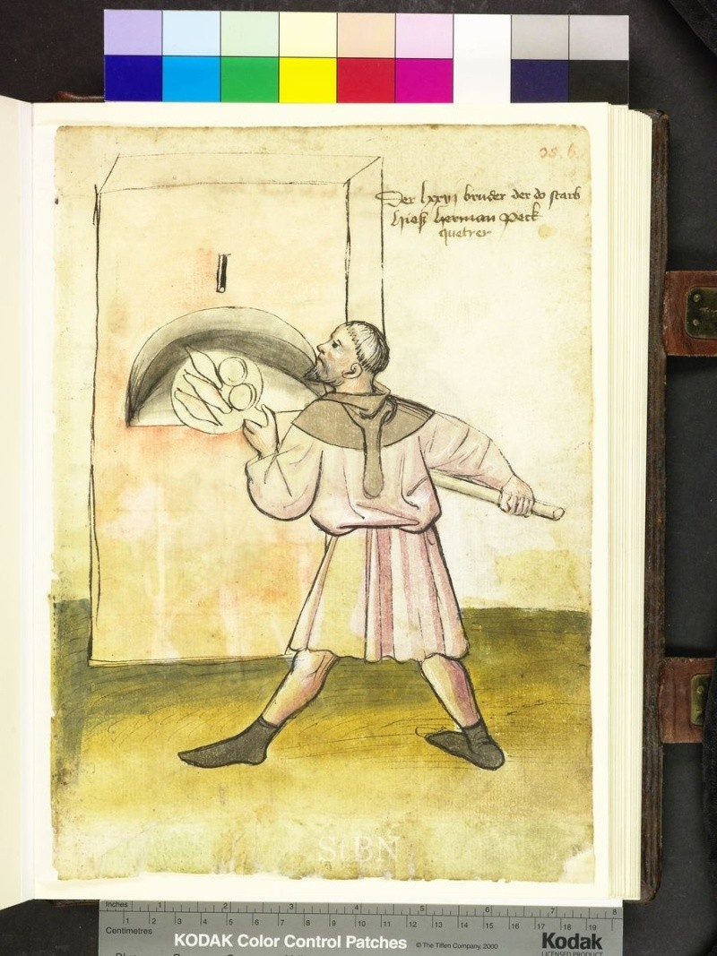 représentation de boulanger / pain / four / vendeurs de pains Folio_11