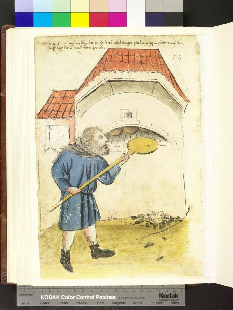 représentation de boulanger / pain / four / vendeurs de pains Folio_12