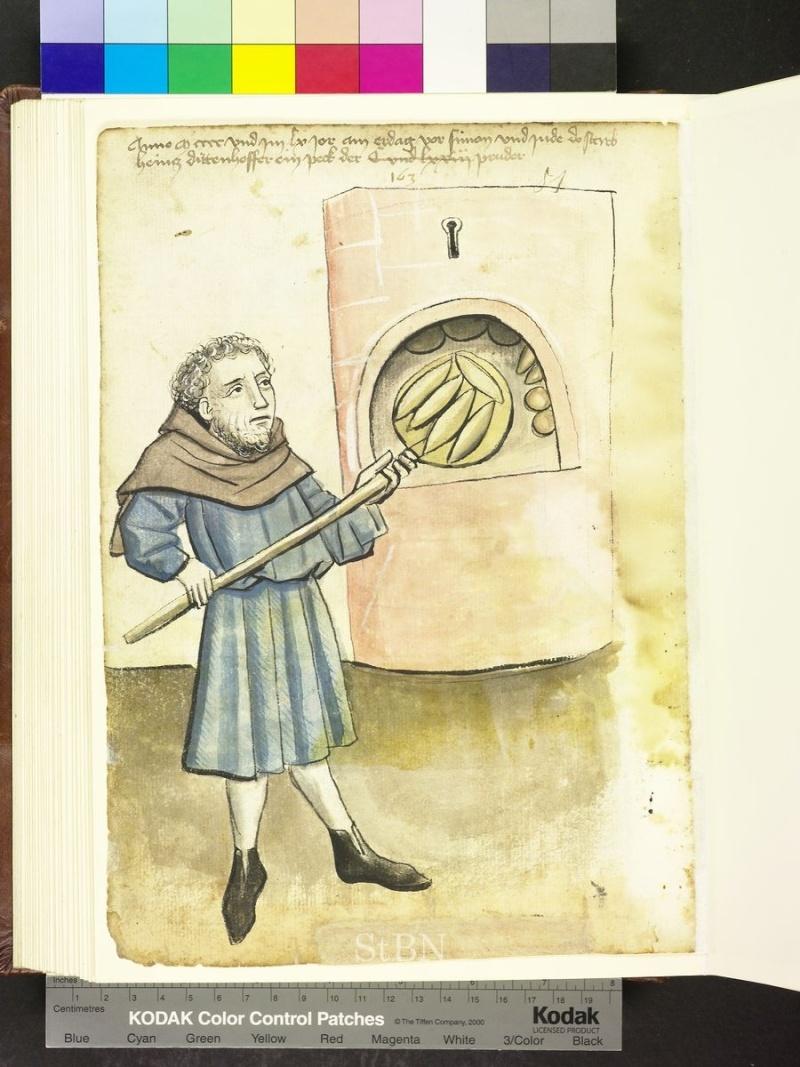 représentation de boulanger / pain / four / vendeurs de pains Folio_13