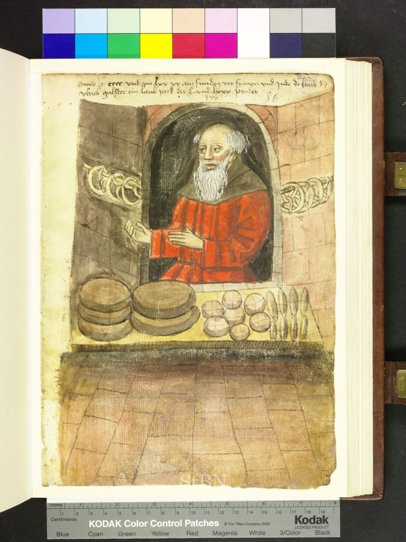 représentation de boulanger / pain / four / vendeurs de pains Folio_14