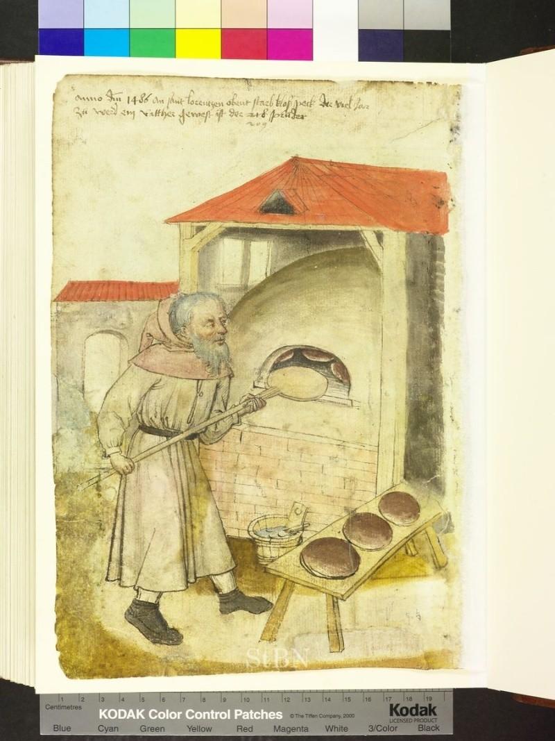 représentation de boulanger / pain / four / vendeurs de pains Folio_16