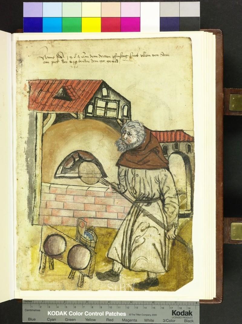 représentation de boulanger / pain / four / vendeurs de pains Folio_17