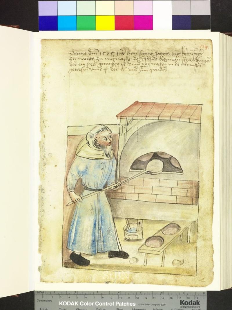 représentation de boulanger / pain / four / vendeurs de pains Folio_18
