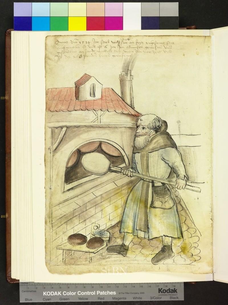 représentation de boulanger / pain / four / vendeurs de pains Folio_20