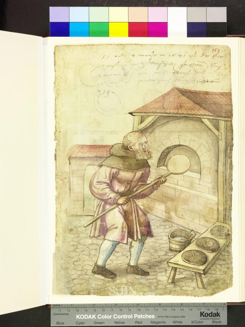 représentation de boulanger / pain / four / vendeurs de pains Folio_21