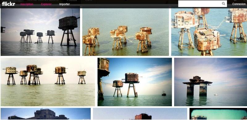 Les Forts Maunsell- Principauté de Sealand - Mer du Nord - UK Captur73