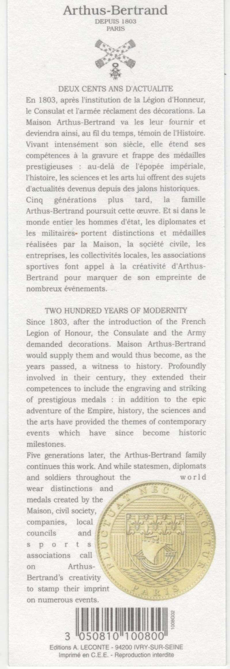 Marque-pages Arthus Bertrand 00212