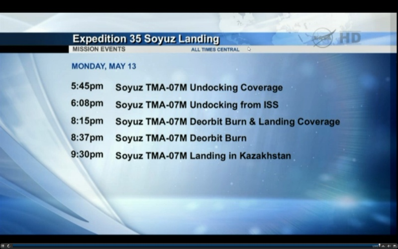 Lancement, amarrage et atterrissage de Soyouz TMA-07M  - Page 3 Screen11