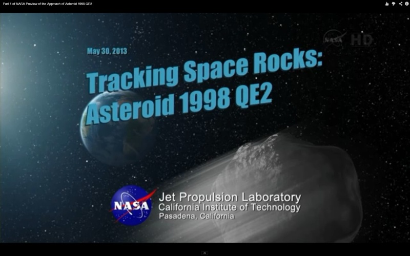 emission du 30 Mai de nasatv sur l'Asteroide 1998 QE2  Screen20