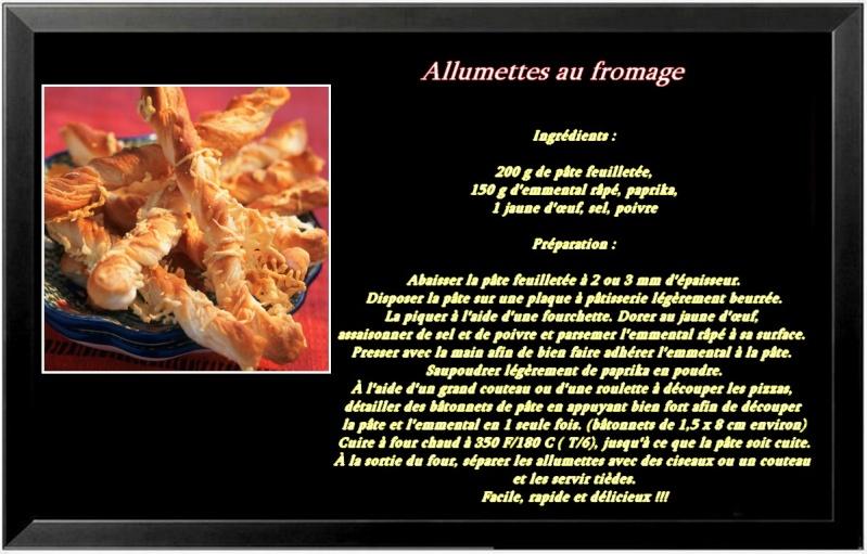 Allumettes au fromage Recett12