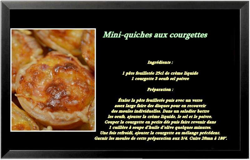 Mini-quiches aux courgettes Recett13