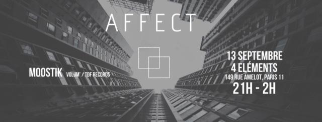 Affect # 1 - Techno: 13 / 09 / 2018 - 4 Eléments (75011) Visuel10