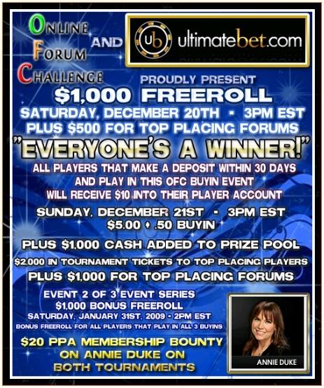OFC December  $4,000 cash, prizes tournament Ofc_ub10