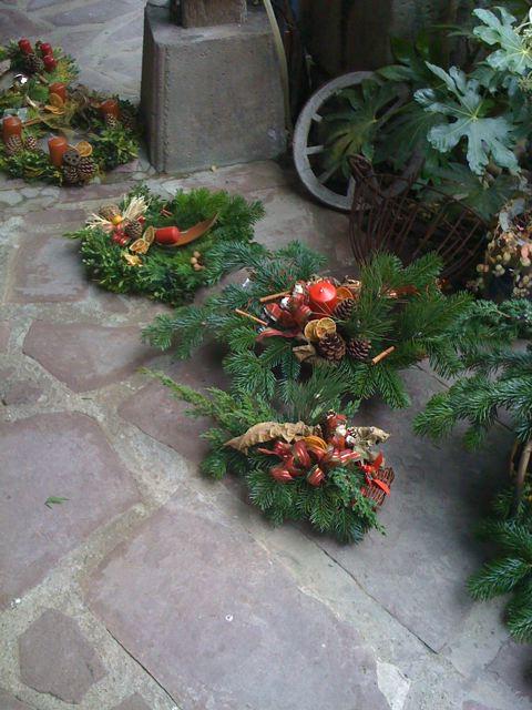 Déco exterieure naturelle pour Noël en alsace Img_0015