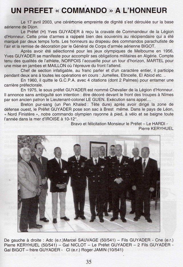 Col et Préfet Commando Yves Guyader Guyade10