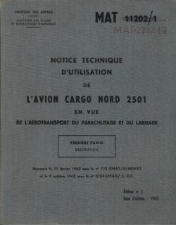 Documents et accessoires liés au Noratlas... N2501-14